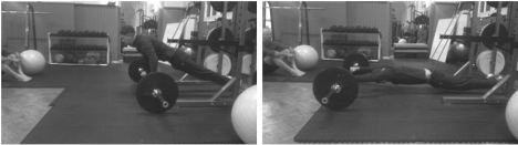 Fig 2. Barbell roll-out: Great exercise for triathletes and swimmers, it mimics the pulling action of frontcrawl.
